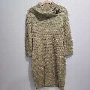 Calvin Klein Neck Buckle Sweater Dress